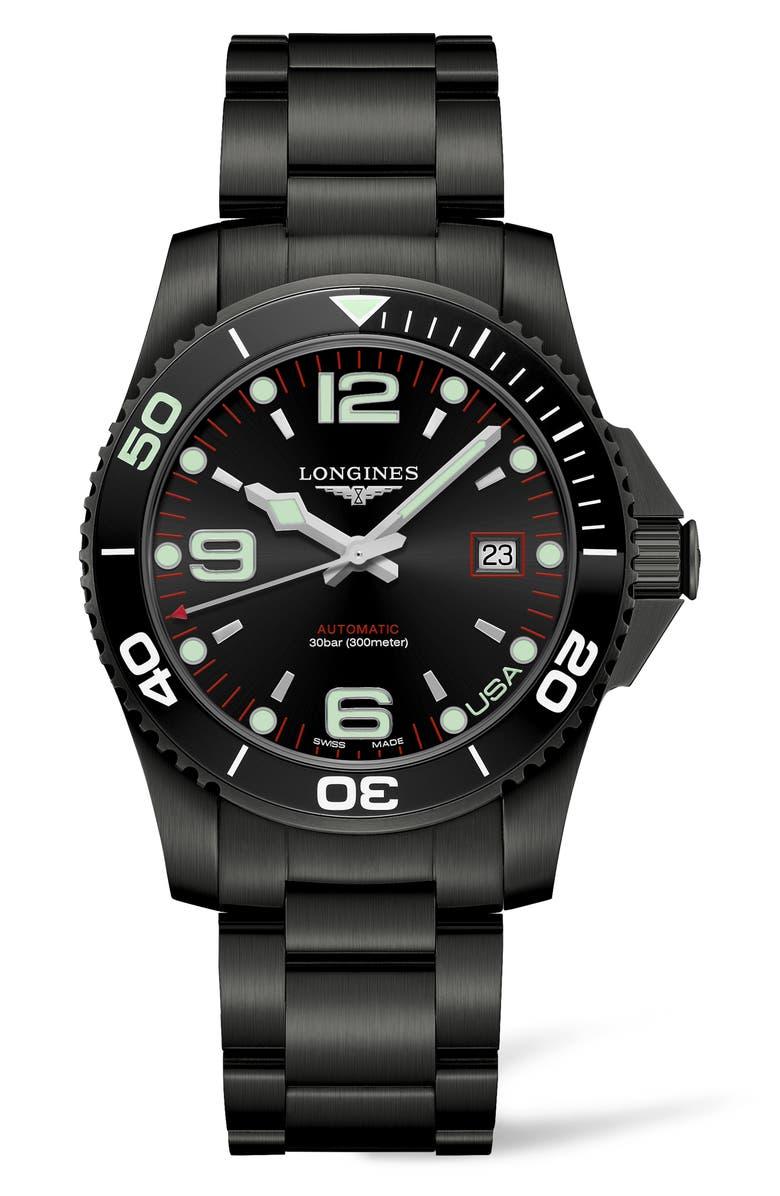 LONGINES HydroConquest Automatic Bracelet Watch, Main, color, 001