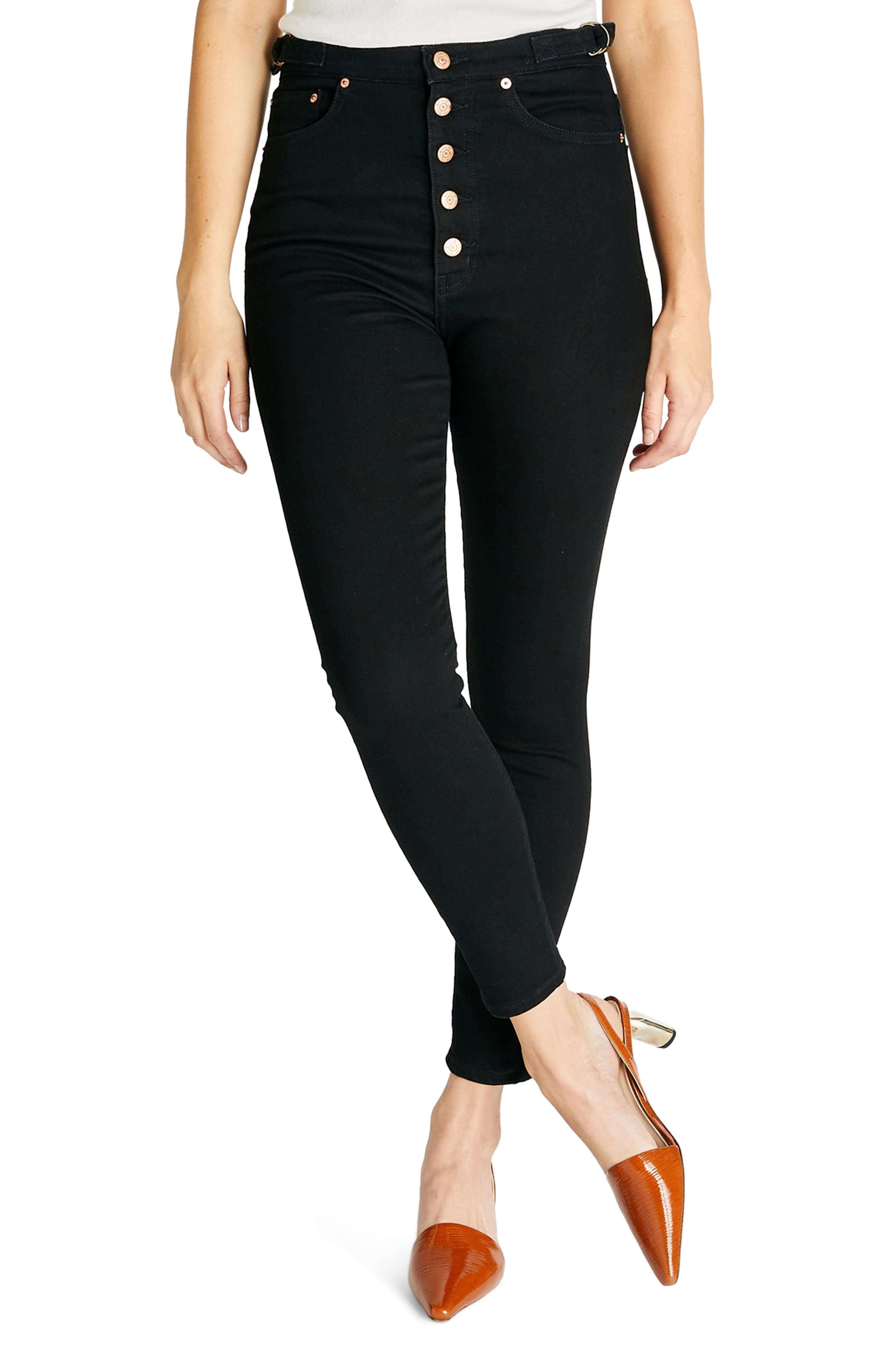 Women's Etica Cindy High Waist Button Fly Ankle Skinny Jeans