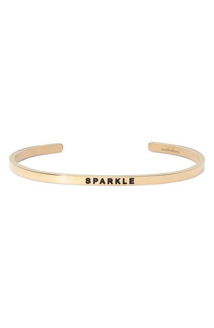 Image of MANTRABAND ® Sparkle Engraved Cuff Bracelet