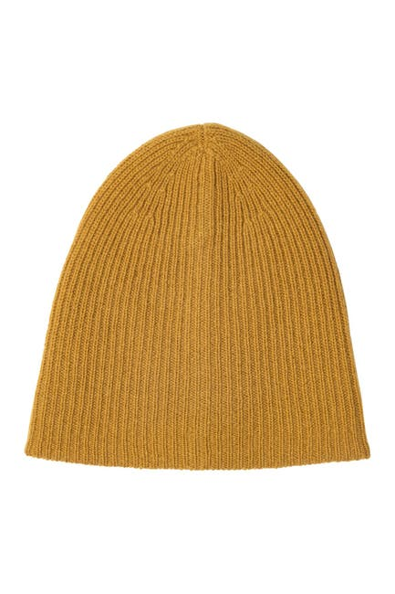 Image of AMICALE Cashmere Double Layer Rib Knit Hat