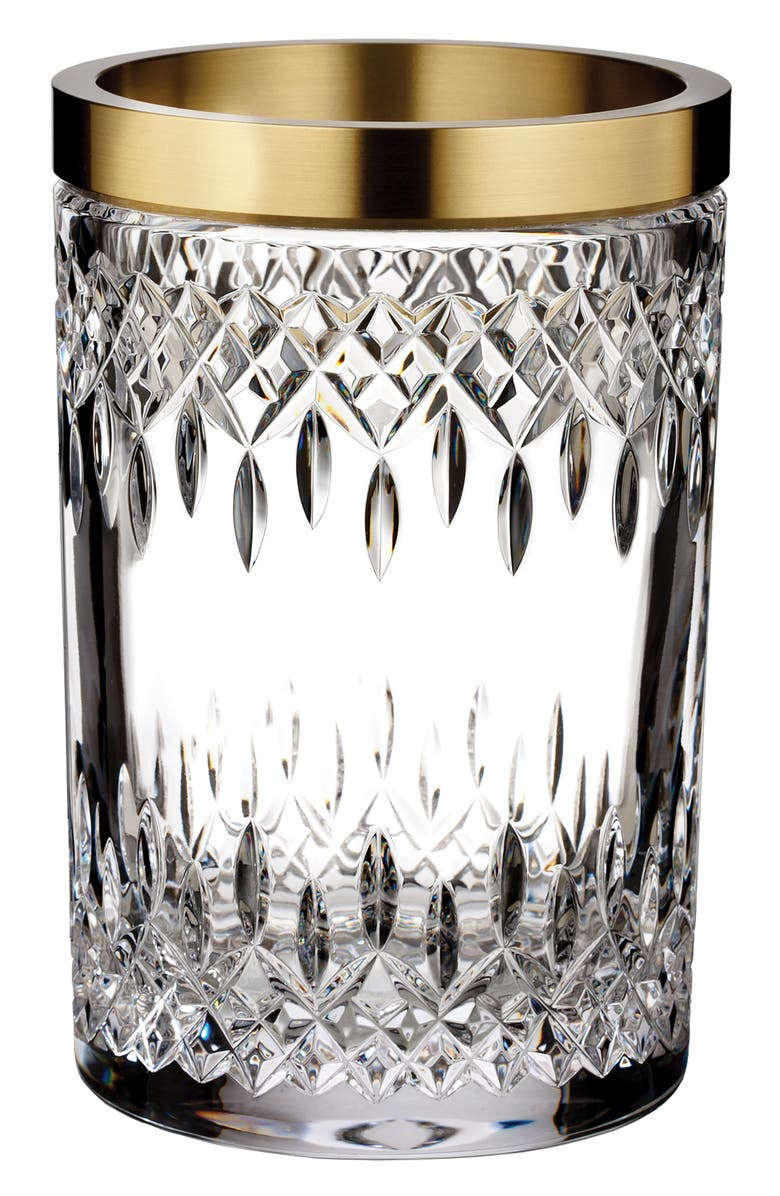 WATERFORD Lismore Reflection 8-Inch Lead Crystal Vase, Main, color, CRYSTAL