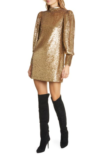 A.l.c Dresses CHRISTY SEQUIN LONG SLEEVE MINIDRESS