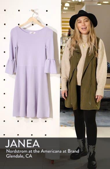 Cutout Bell Sleeve Sweater Dress, sales video thumbnail