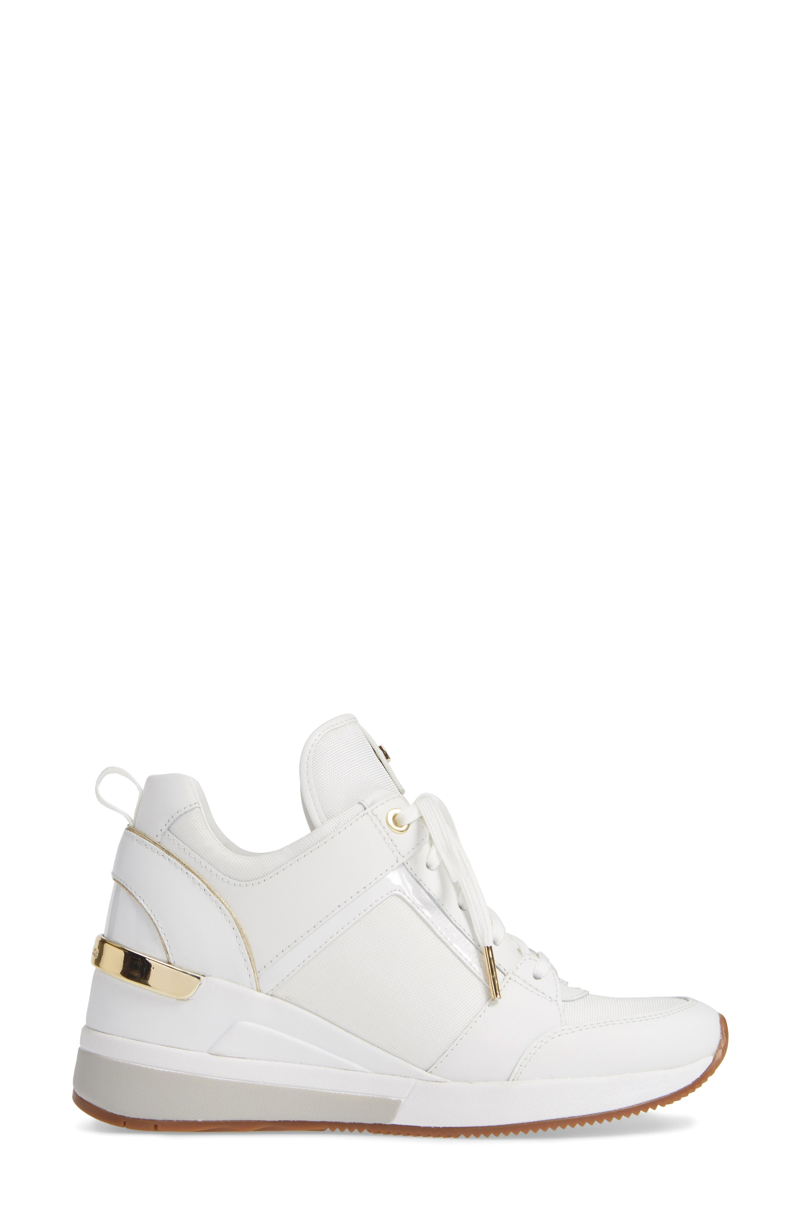 ,                             Georgie Wedge Sneaker,                             Alternate thumbnail 9, color,                             100