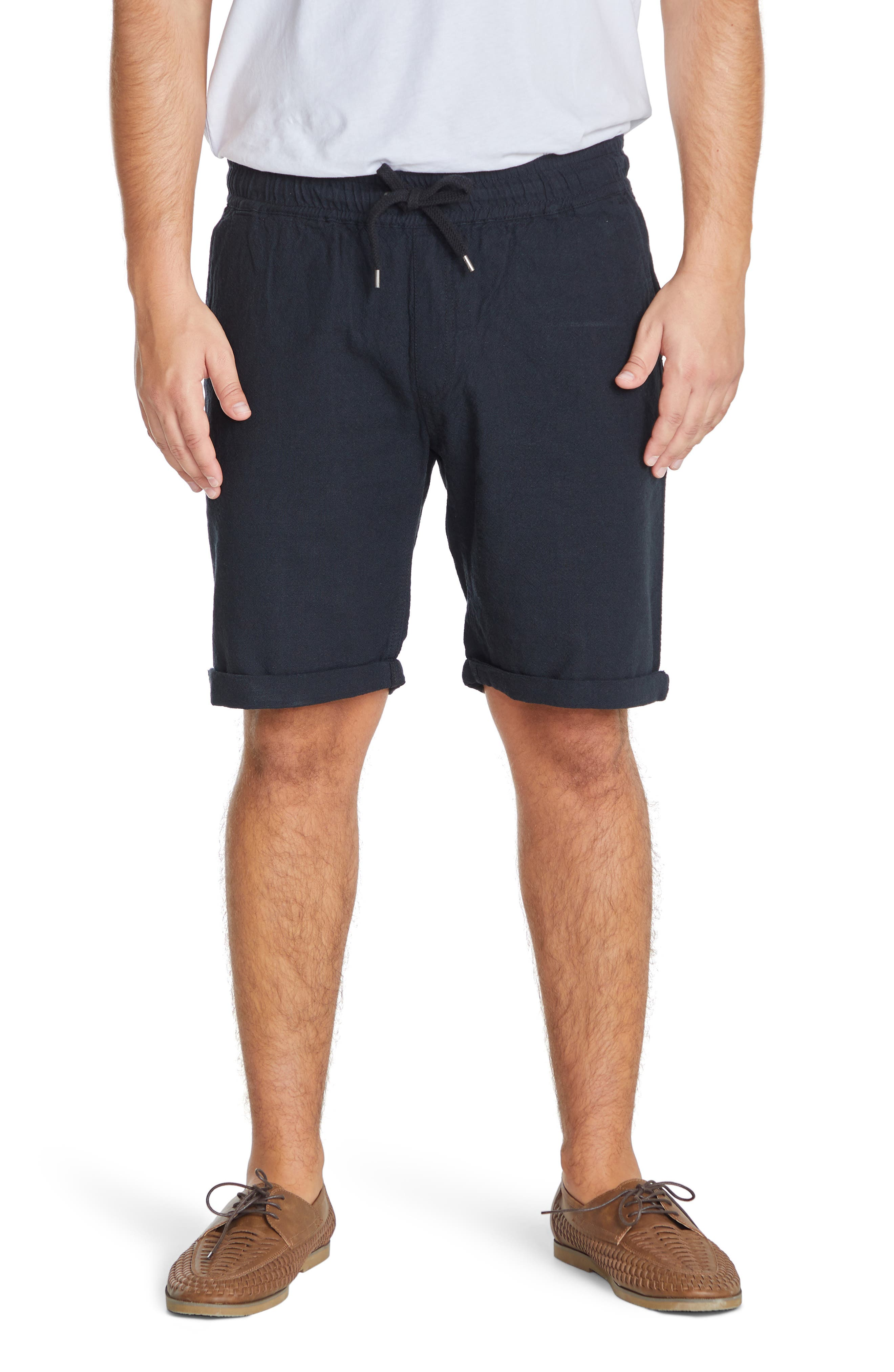 Byron Linen & Cotton Drawstring Shorts