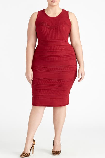 Image of Rachel Roy Mixed Stitch Knit Dress