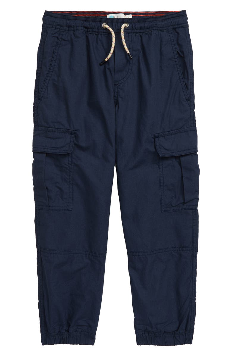 MINI BODEN Lined Utility Cargo Pants, Main, color, STORMY BLUE