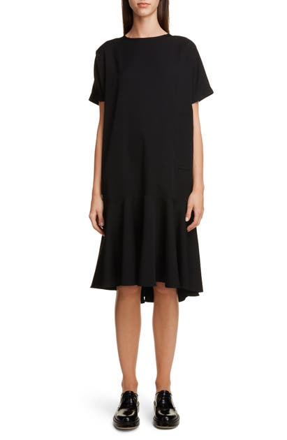 Y's Dresses WOOL GABARDINE SHIFT DRESS