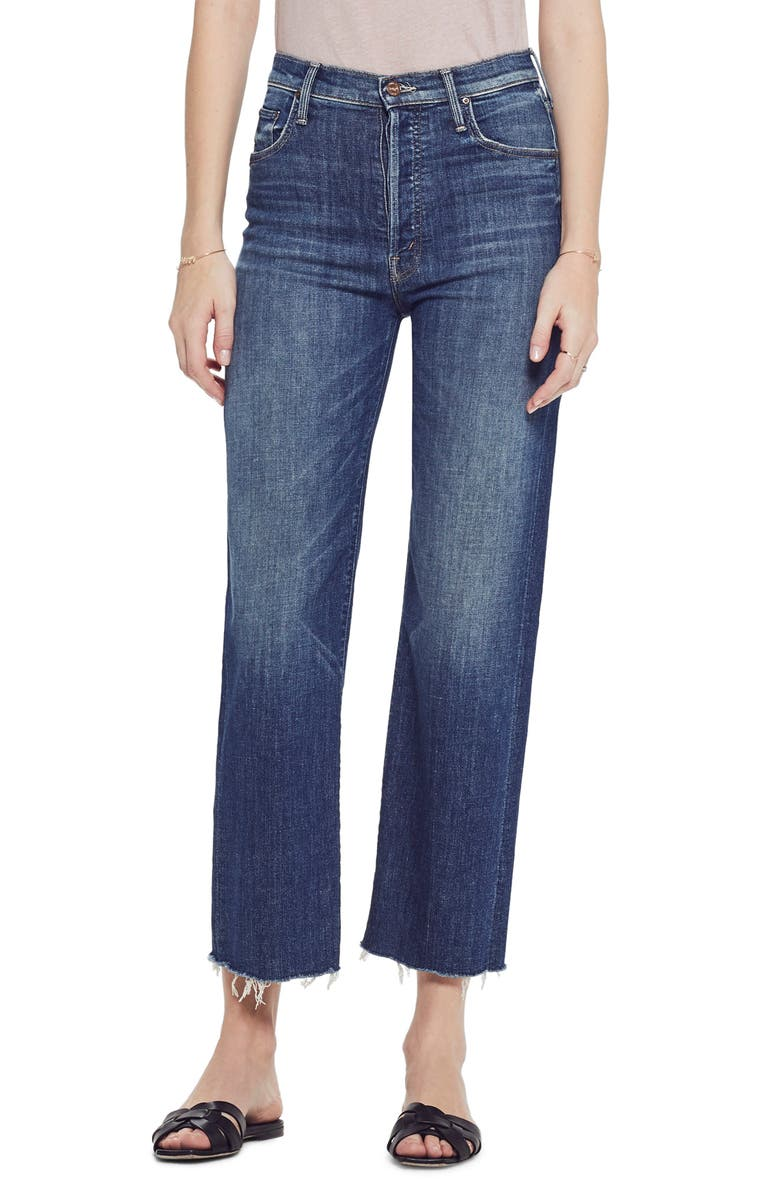 MOTHER The Rambler High Waist Fray Wide Leg Jeans, Main, color, 420