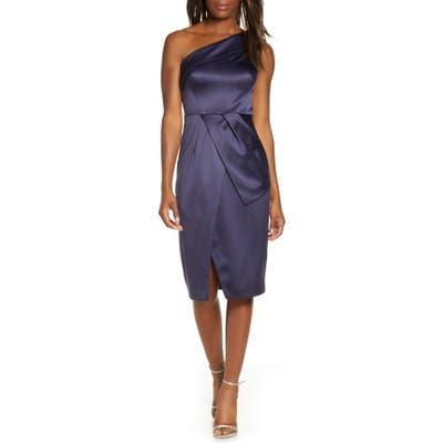 Vince Camuto One-Shoulder Cocktail Dress, Blue