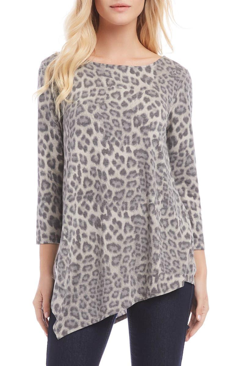 KAREN KANE Leopard Print Crisscross Back Top, Main, color, LEOPARD