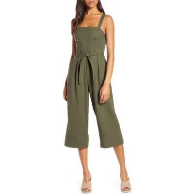 Adelyn Rae Piper Jumpsuit, Green