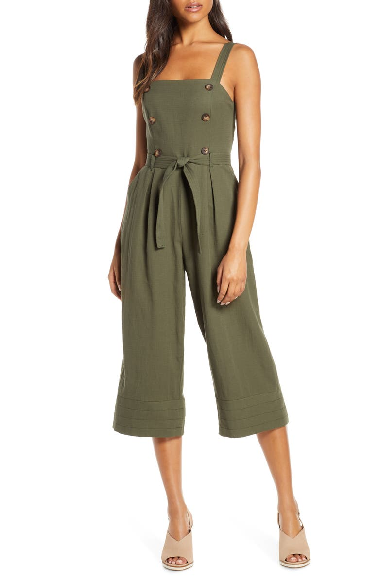 ADELYN RAE Piper Jumpsuit, Main, color, OLIVE