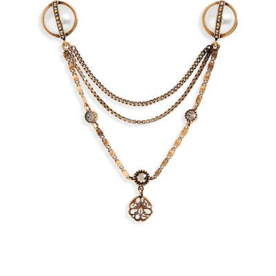 Alexander Mcqueen Signature Charm Chain Brooch