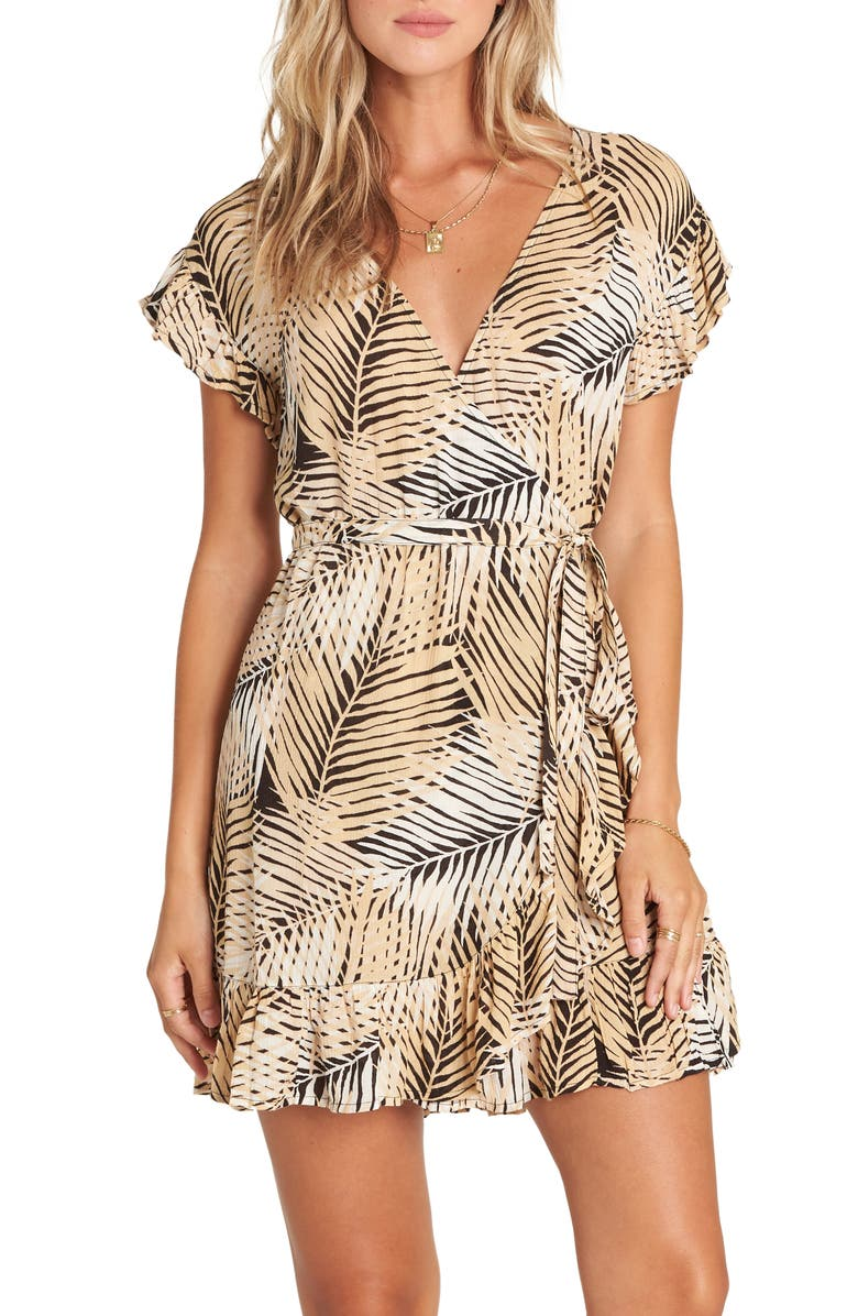 BILLABONG Wrap and Roll Minidress, Main, color, 001