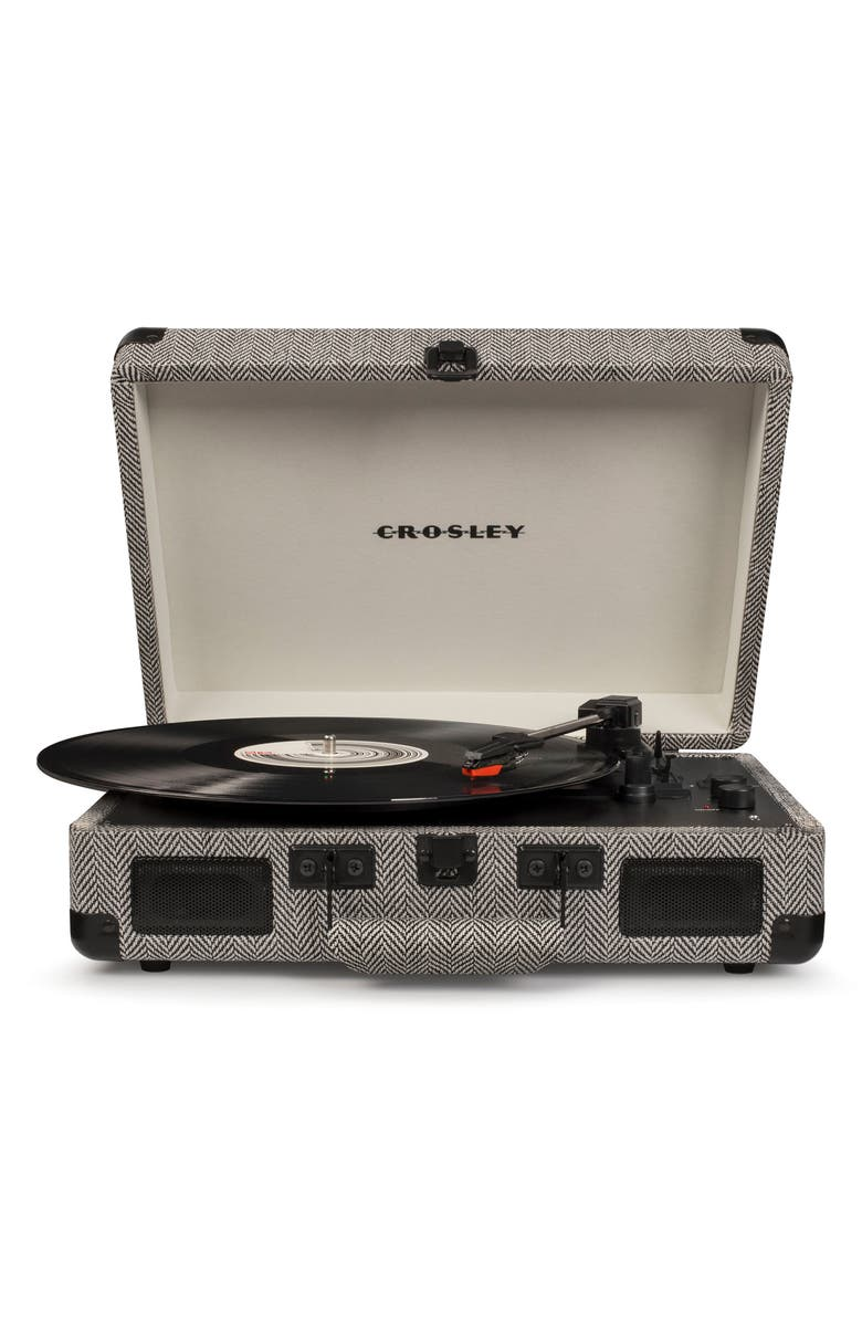 CROSLEY RADIO Cruiser Deluxe Turntable, Main, color, HERRINGBONE