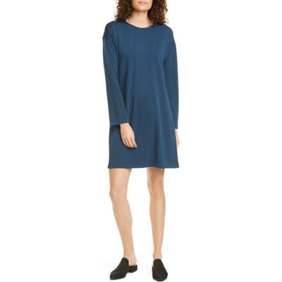 Eileen Fisher Long Sleeve T-Shirt Dress, Blue