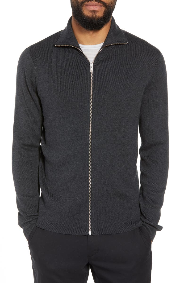 CALIBRATE Mock Neck Zip Sweater, Main, color, 001