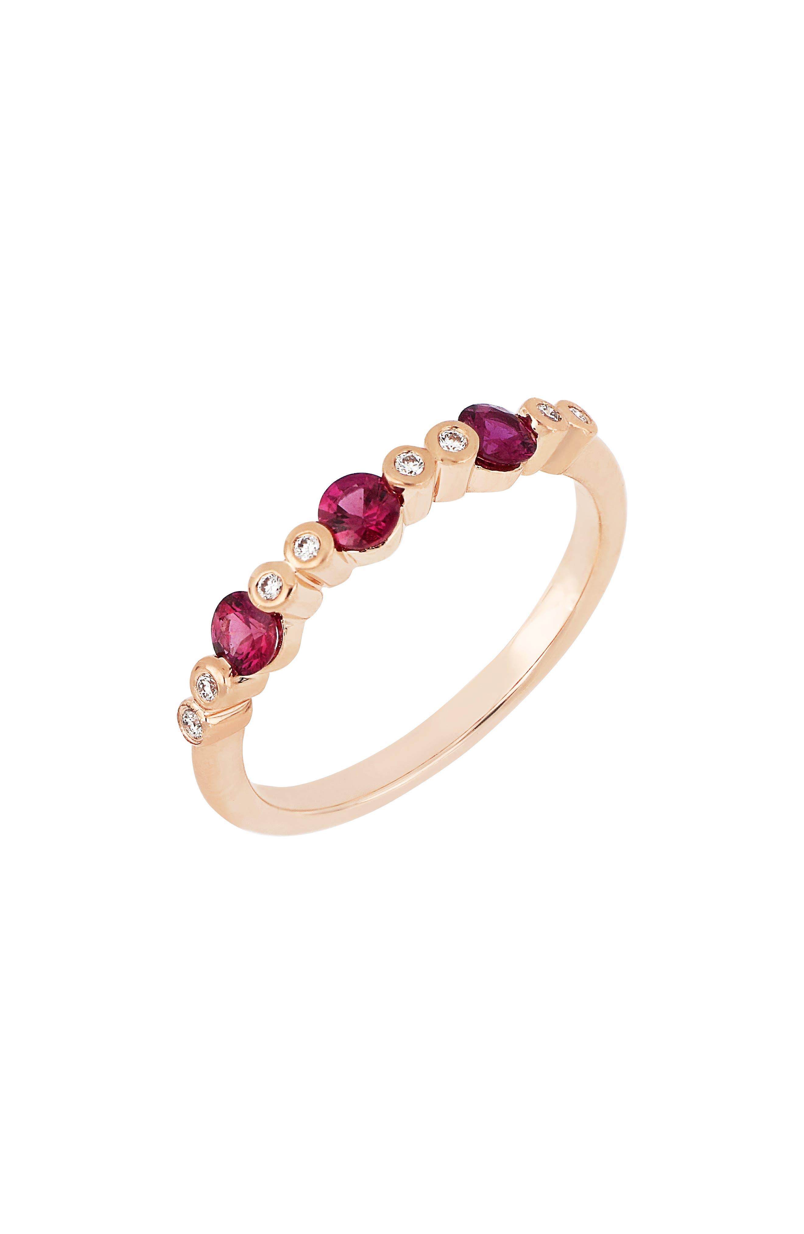 Diamond & Gemstone Ring (Nordstrom Exclusive)