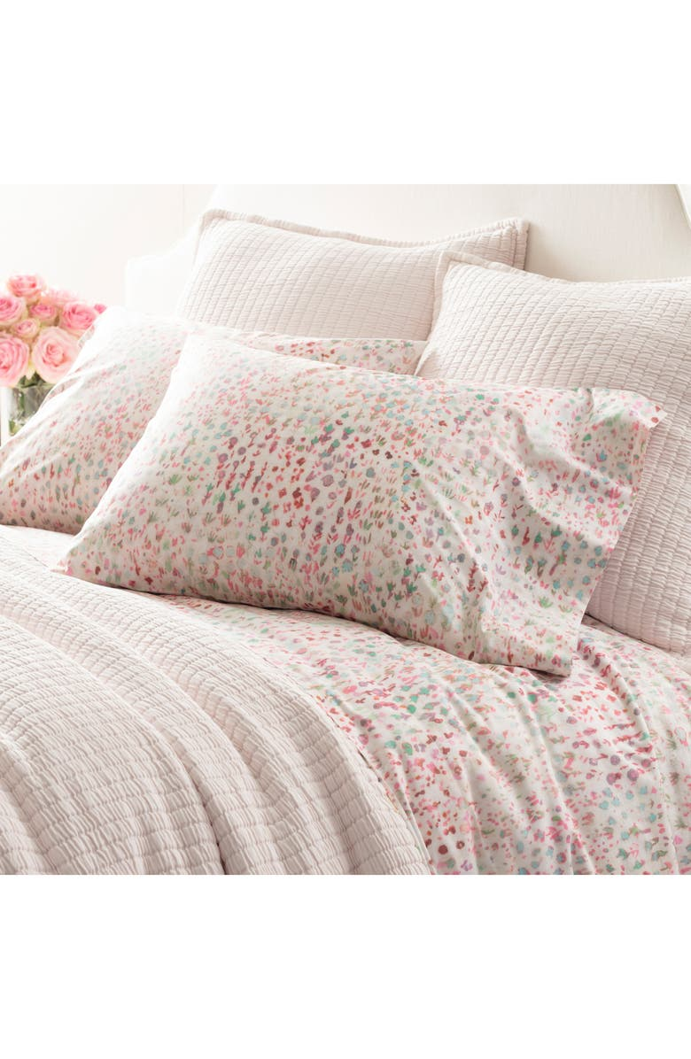 PINE CONE HILL Jardin 400 Thread Count Sheet Set, Main, color, PINK