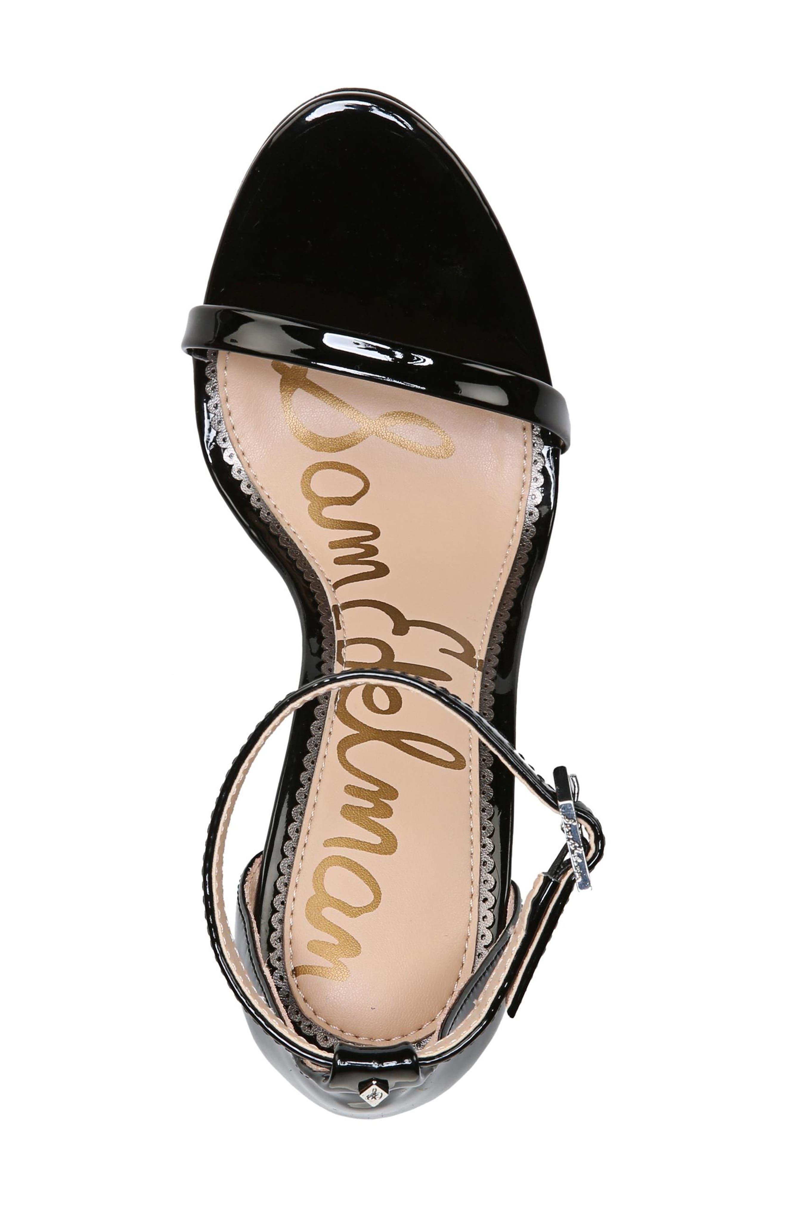 ,                             Ariella Ankle Strap Sandal,                             Alternate thumbnail 5, color,                             BLACK PATENT LEATHER