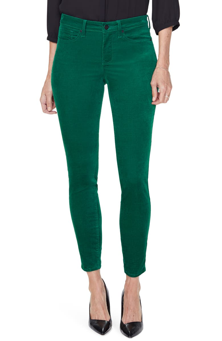 NYDJ Ami Stretch Velvet Skinny Pants, Main, color, MOUNTAIN PINE