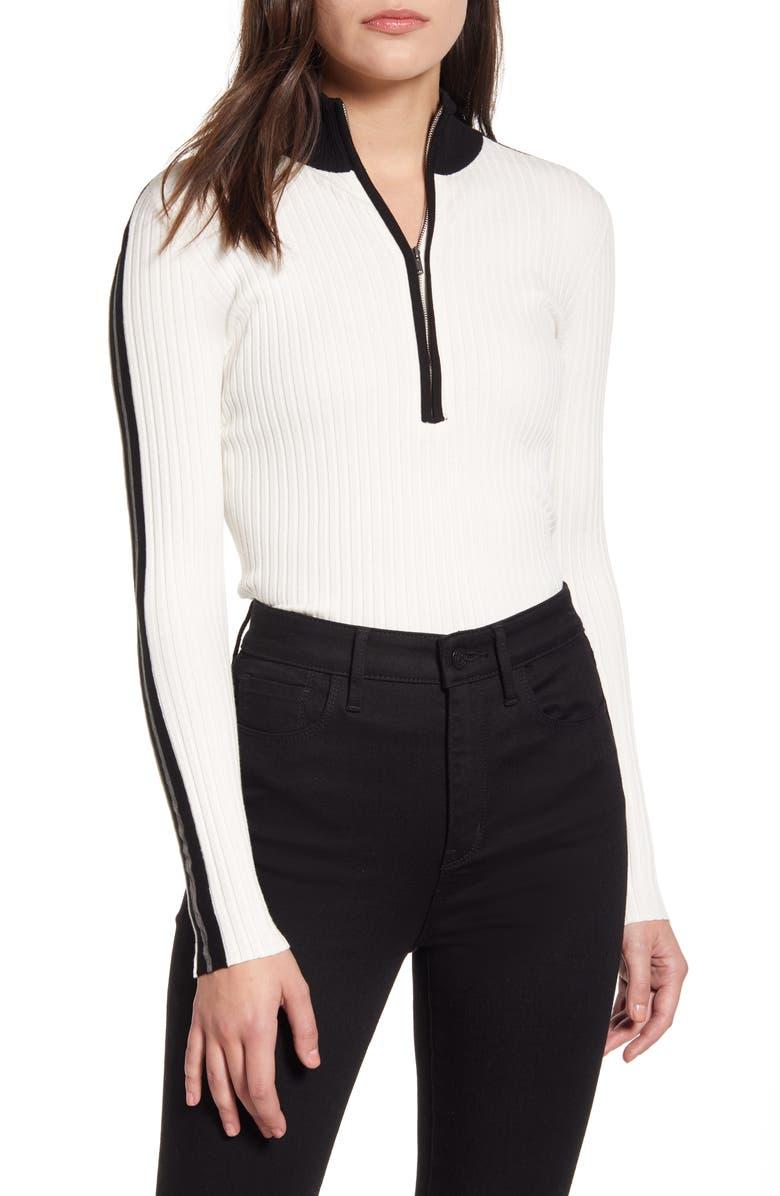 BAILEY 44 Reese Quarter Zip Sweater, Main, color, CREME FRAICHE