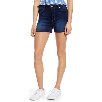 1822 Denim Butter High Waist Denim Shorts, Blue