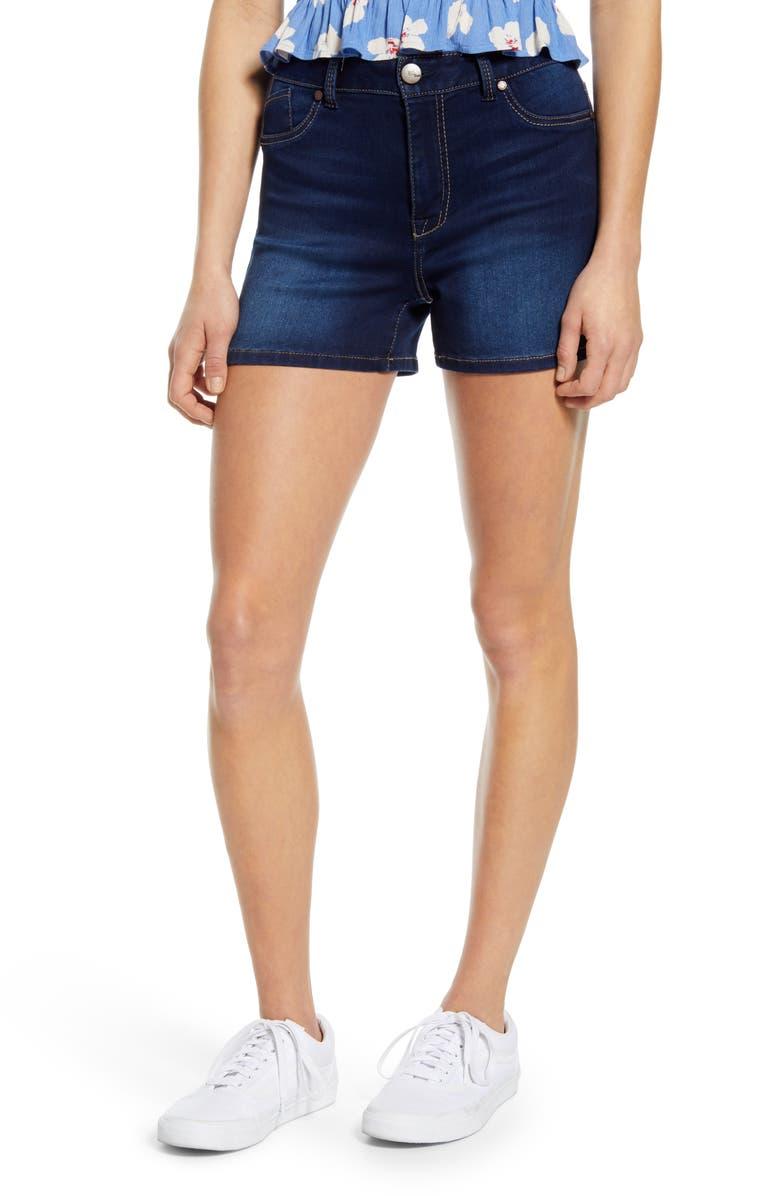 1822 DENIM Butter High Waist Denim Shorts, Main, color, RAQUEL