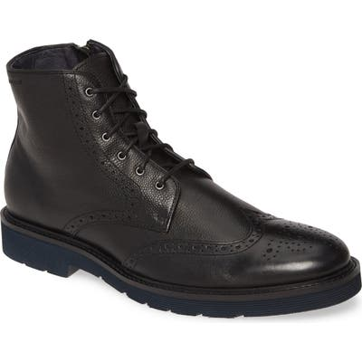 J & m 1850 Kinley Wingtip Boot, Black