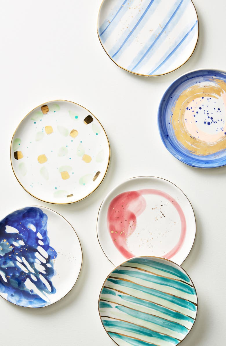 ANTHROPOLOGIE HOME Anthropologie Mimira Canape Plate, Main, color, 400