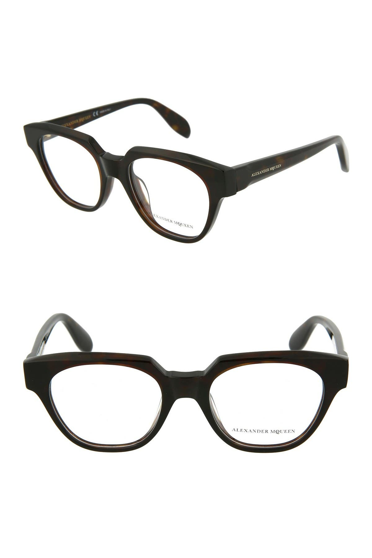Image of Alexander McQueen 49mm Modified Round Optical Frames