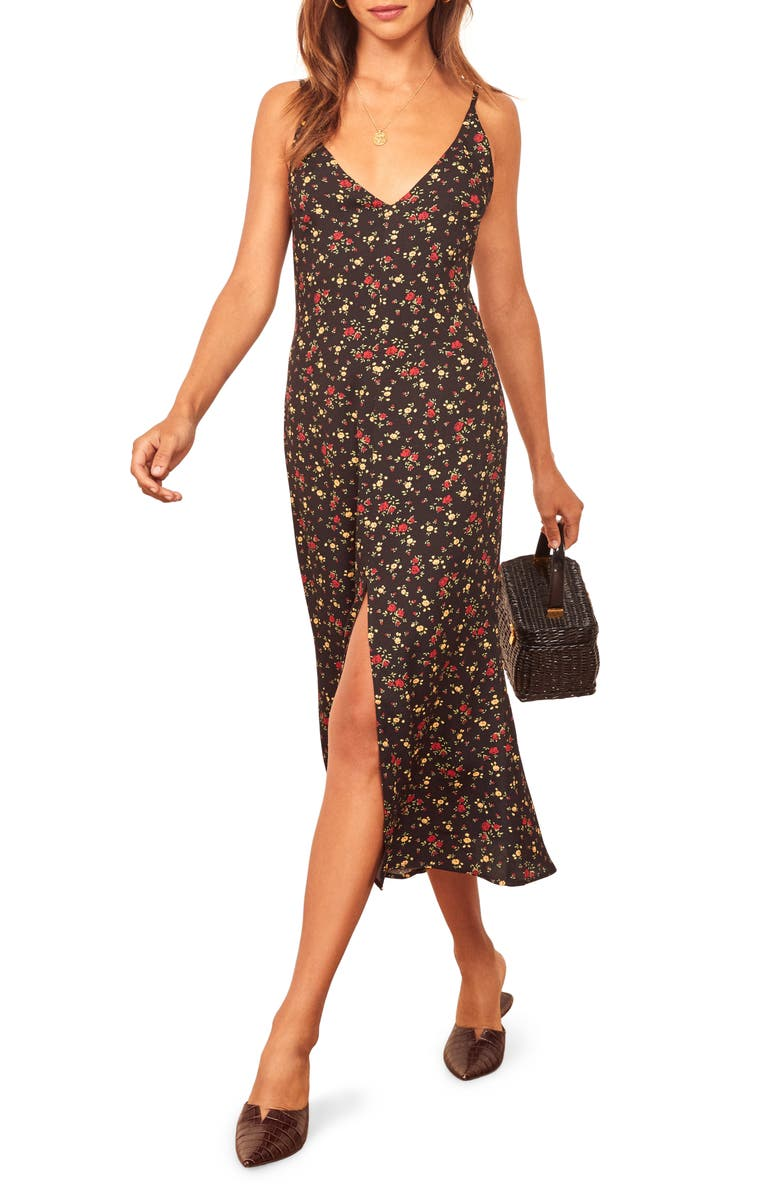 REFORMATION Bates Sleeveless Midi Dress, Main, color, REBECCA