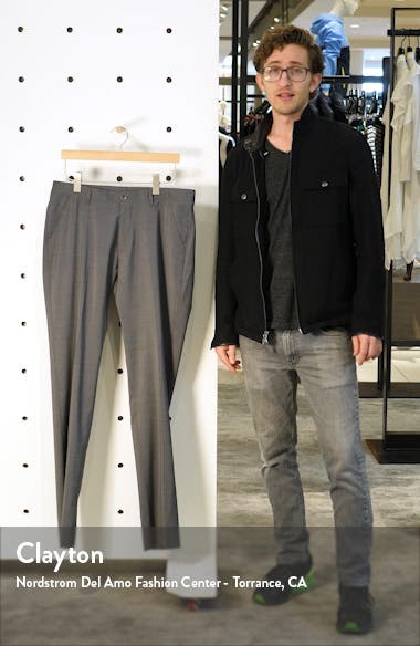 Soho Slim Fit Flat Front Stretch Cotton Trousers, sales video thumbnail