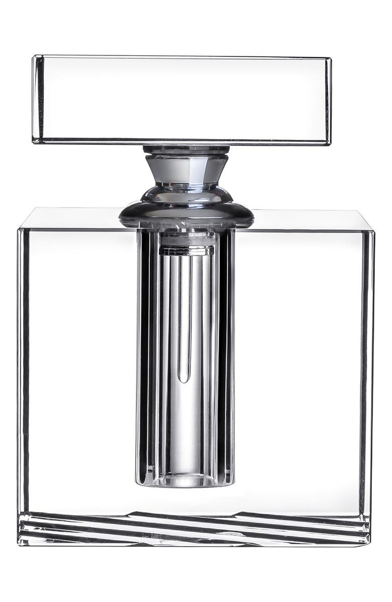 ORREFORS 'Stripe' Crystal Perfume Bottle, Main, color, CLEAR