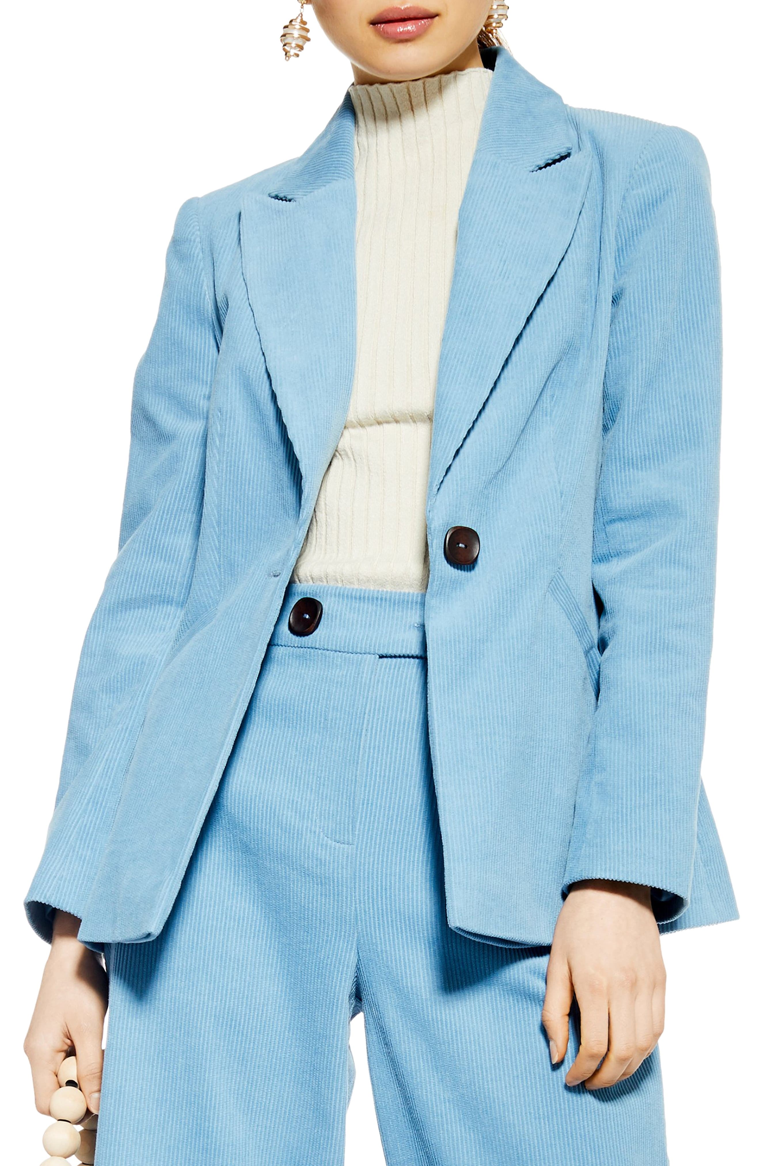 Corduroy Blazer, Main, color, BLUE