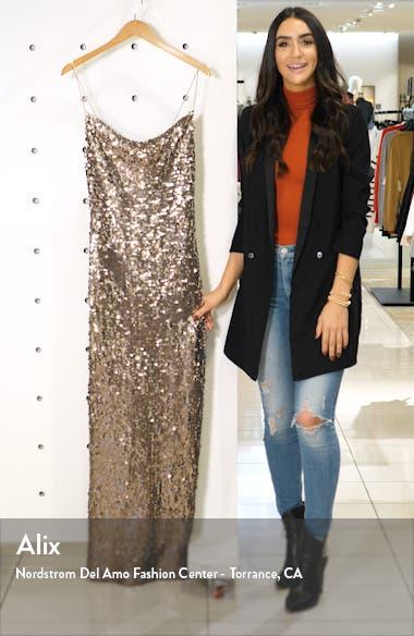 Amy Sequin Cowl Neck Gown, sales video thumbnail