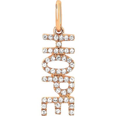 Ef Collection Diamond Hope Pendant Charm