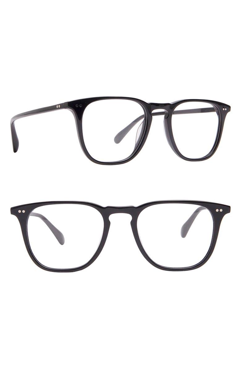 DIFF Maxwell 49mm Blue Light Blocking Glasses, Main, color, BLACK/ BLUE