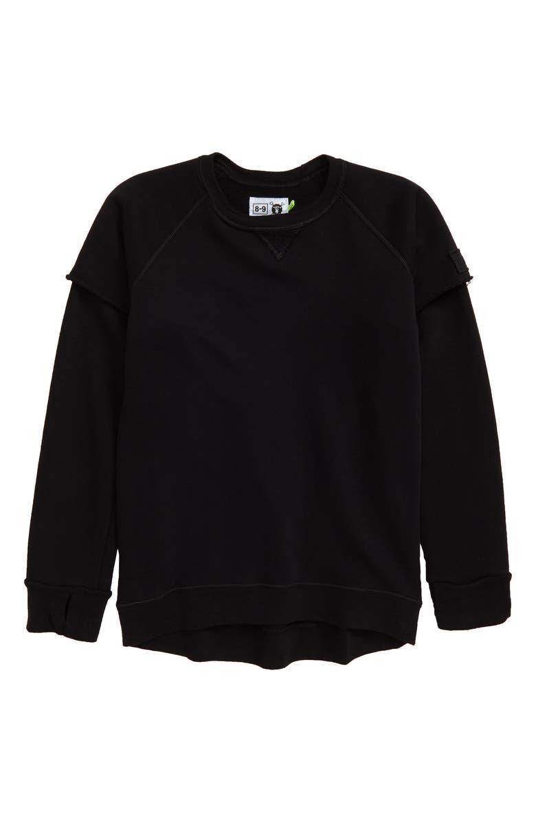 NUNUNU Twofer Sweatshirt, Main, color, 001