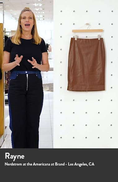 Skinny Faux Leather Pencil Skirt, sales video thumbnail