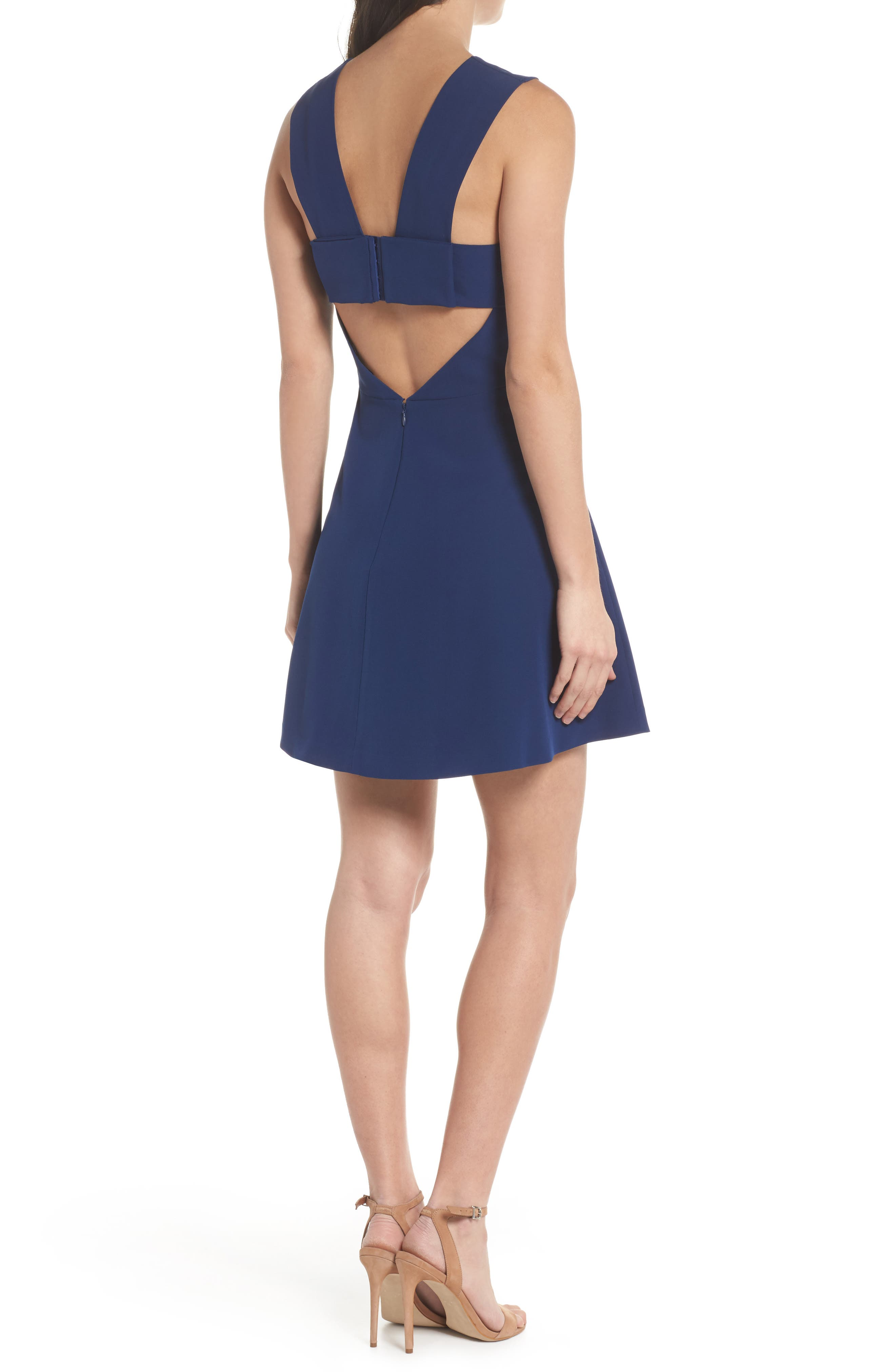 ,                             Bianca Back Cutout Fit & Flare Dress,                             Alternate thumbnail 27, color,                             400