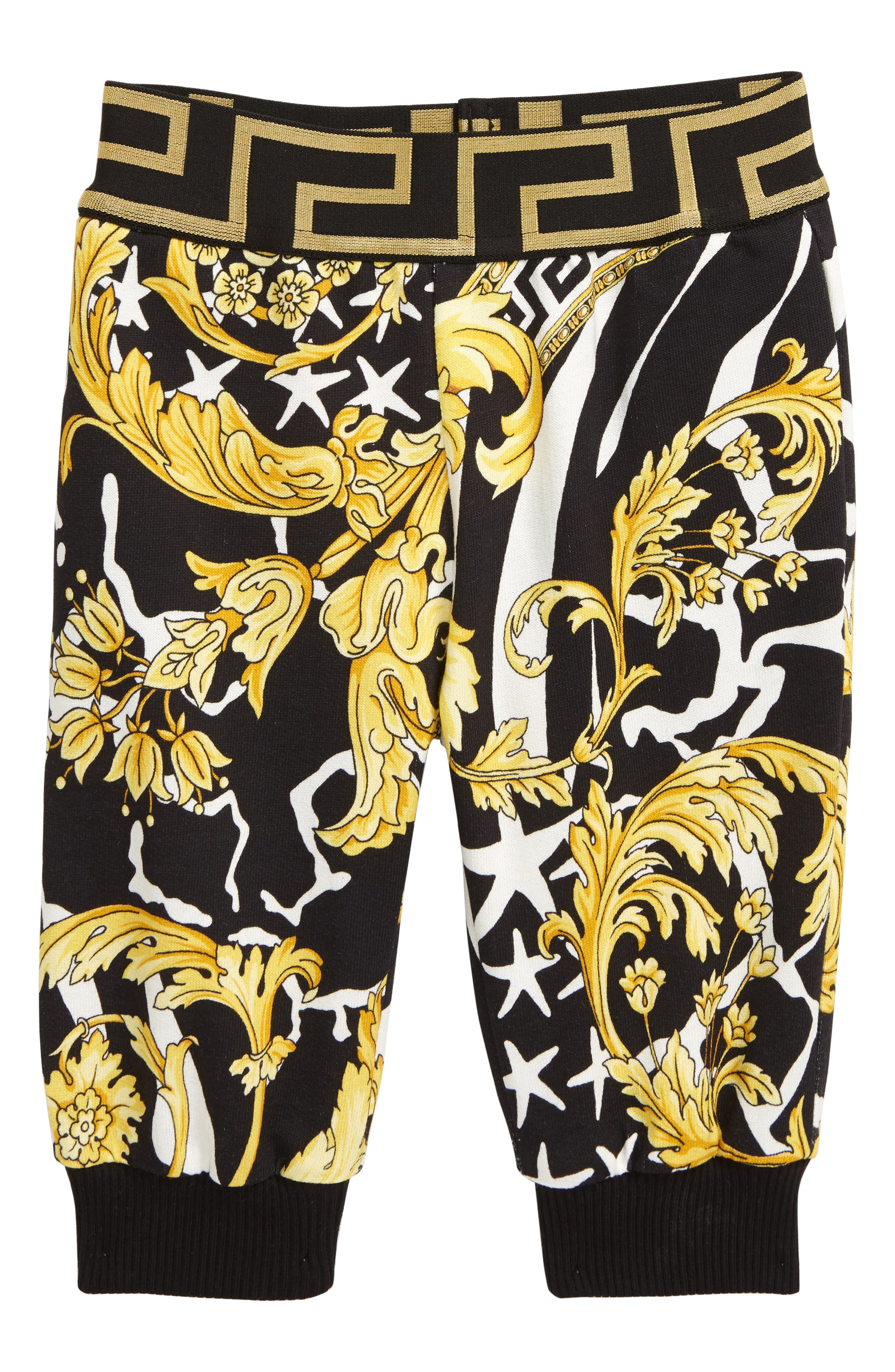 NEW Lounge Pants Versace Young Kids Unisex Sweatpants Black with Stripes