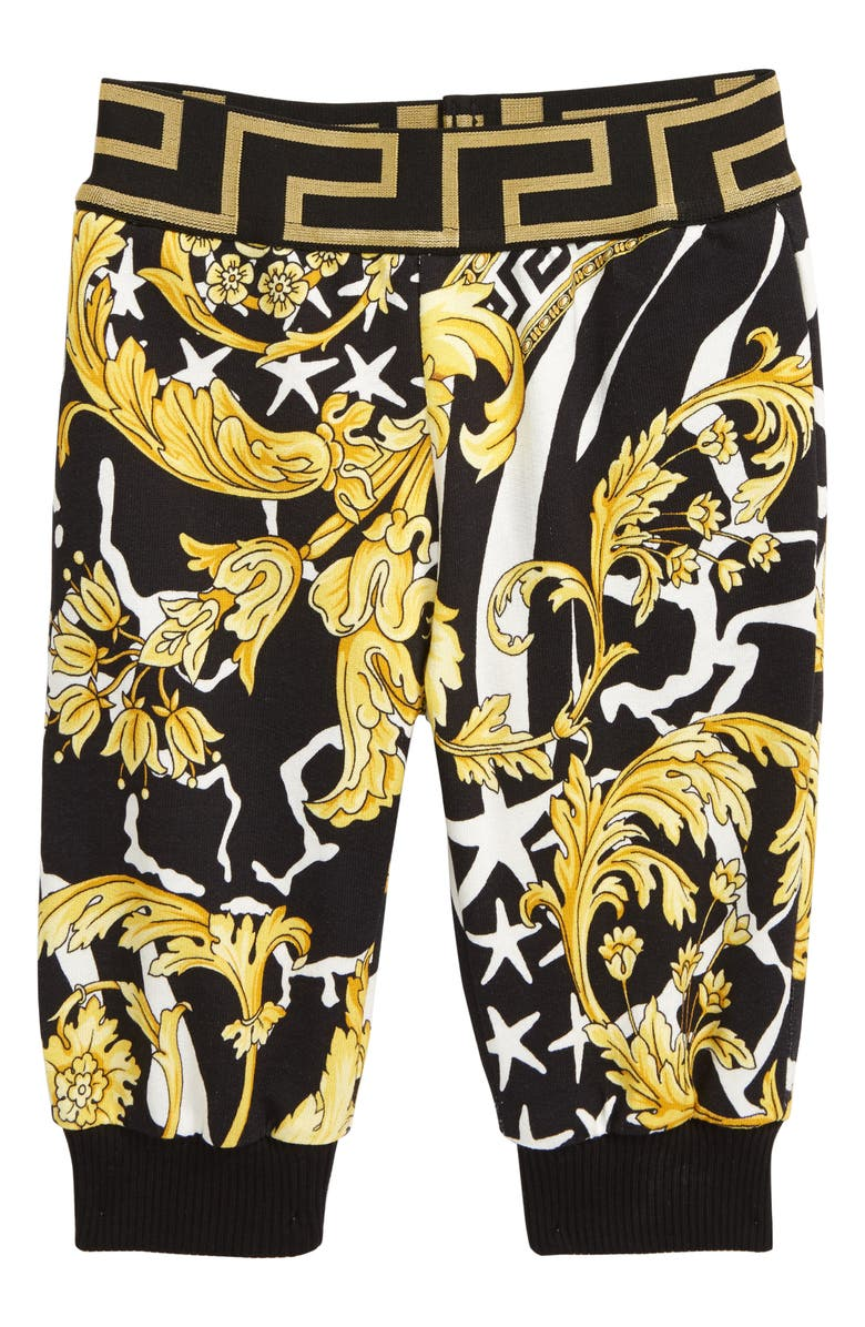 VERSACE Barocco Sweatpants, Main, color, BLACK/ GOLD