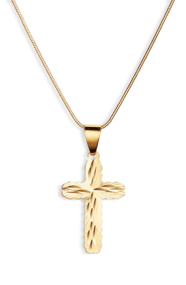 BRACHA Faith Pendant Necklace, Main, color, GOLD