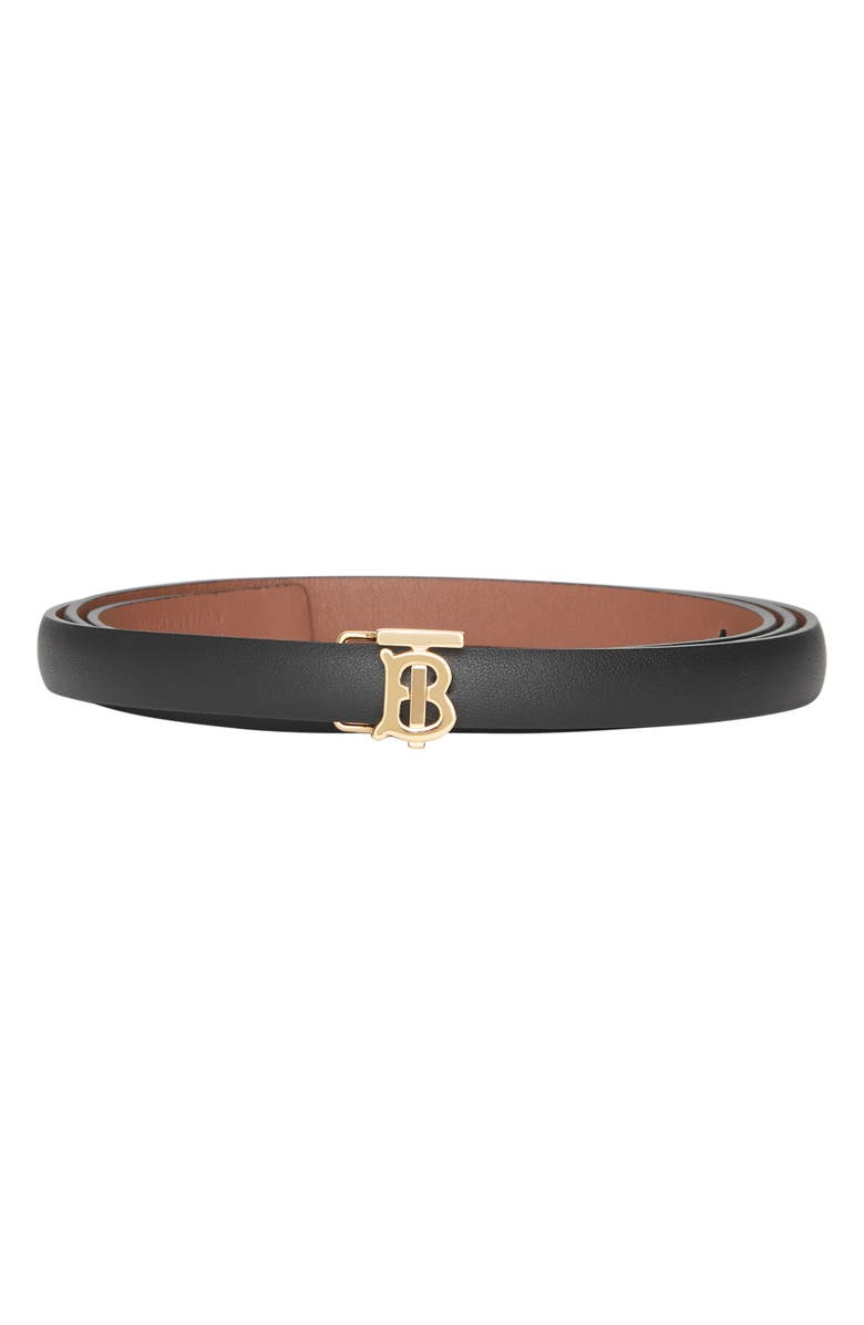 Tb Monogram Reversible Leather Belt by Burberry