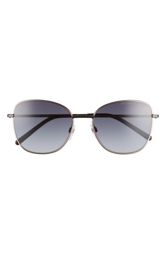 Marc Jacobs 54mm Gradient Lens Square Sunglasses In Black/ Dark Grey Gradient