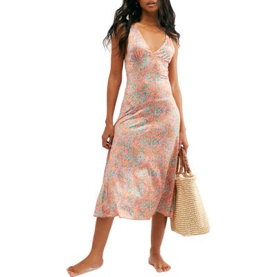 Free People Nowhere To Be Slipdress, Coral