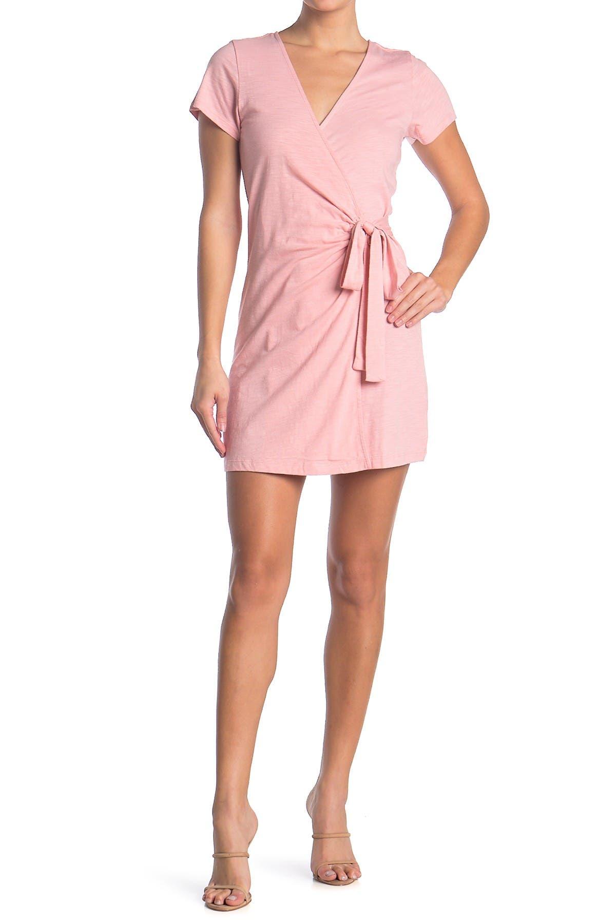 Image of Sanctuary Short Sleeve Knit Wrap Dress