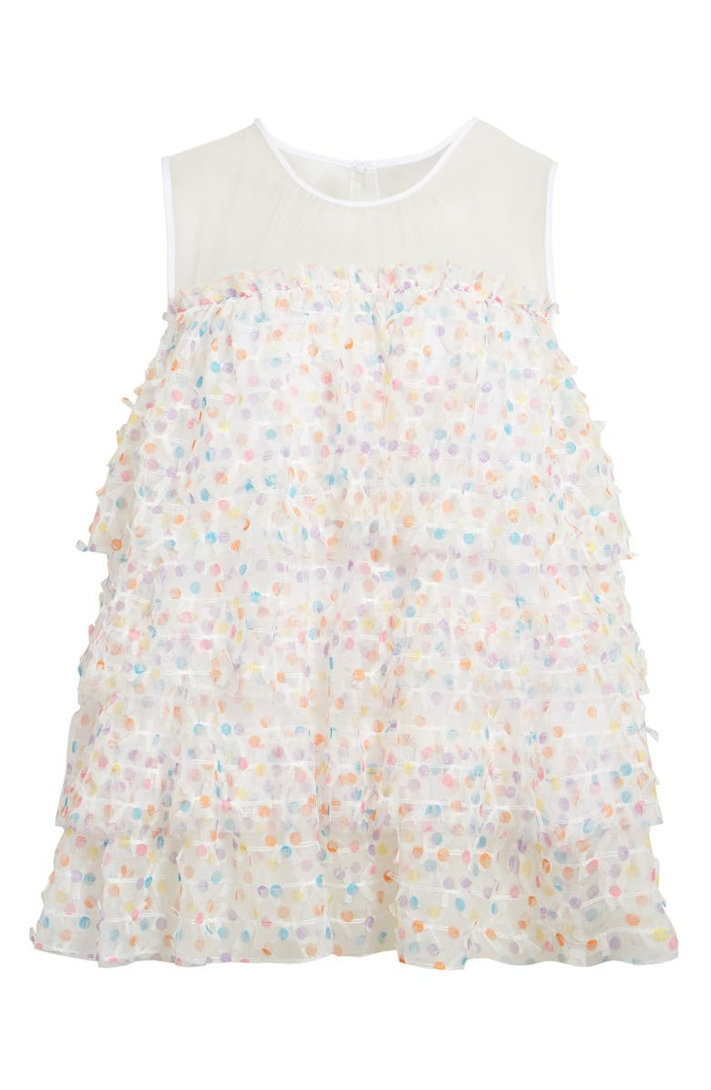 HALOGEN<SUP>®</SUP> x Atlantic-Pacific Dot Tulle Top, Main, color, 100